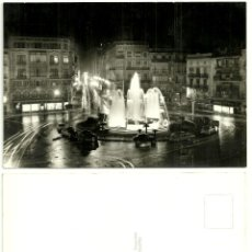 Postales: POSTAL DE VALENCIA (PLAZA REINA. NOCTURNA). Lote 54893584
