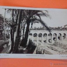 Postales: ANTIGUA POSTAL DE ELCHE - ACUEDUCTOS RIEGOS DE LEVANTE - FOTO L. ROISIN... R -1748. Lote 44737185