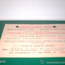 Postales: CURIOSA POSTAL PUBLICITARIA DE ALICANTE, AÑOS 40-59 CONSTRUCCIONES GILBELER. Lote 55176594