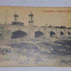 Postales: VALENCIA .- PUENTE DEL MAR. Lote 55388712