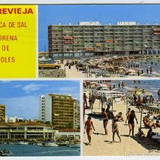 Postales: Nº 340 TORREVIEJA, ALICANTE. DIVERSOS ASPECTOS. COMERCIAL VIPA. . Lote 55401592