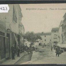 Postales: REQUENA - PLAZA DE CANALEJAS - ED· HERNANDEZ Y SANCHEZ - (42421). Lote 55570025