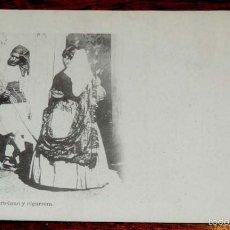 Postales: VALENCIA, HORTELANO Y CIGARRERA, FOT. LAURENT, SERIE B Nº 90, SIN CIRCULAR Y SIN DIVIDIR. Lote 55716726