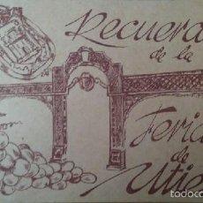 Postales: COLECCION DE 10 POSTALES RECUERDO DE LA FERIA DE UTIEL VALENCIA. Lote 56019906