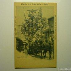 Postales: POSTAL VALENCIA FERIA 1901-CABALGATA 1899 BB. Lote 56467190
