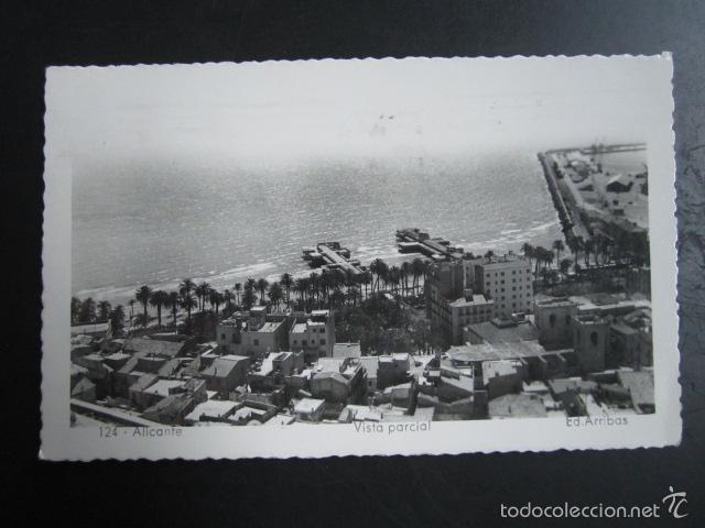 POSTAL ALICANTE. VISTA PARCIAL. CIRCULADA. (Postales - España - Comunidad Valenciana Moderna (desde 1940))