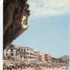 Postales: ALICANTE BENIDORM VISTA PARCIAL DE LA PLAYA. FOTO HNOS. GALIANA. ESCRITA. AÑO 1962. Lote 56744948
