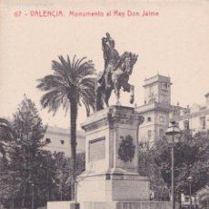 Postales: POSTAL VALENCIA MONUMENTO AL REY DON JAIME. Nº67 THOMAS.. Lote 56813034