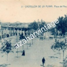 Postais: CASTELLÓN DE LA PLANA- PLAZA DEL REY D. JAIME, EDIT.EMILIO ROCA, RARA. Lote 56834932