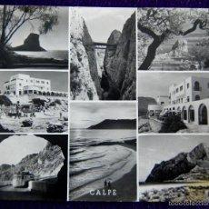 Postales: POSTAL DE CALPE (ALICANTE). Nº 242 DETALLES DEL PARADERO Y PEÑON DE IFACH. FOTO SANCHEZ. AÑOS 50.. Lote 56842744