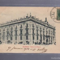Postales: TARJETA POSTAL DE VALENCIA - FABRICA DE TABACO. LIBRERIA RAMON ORTEGA.. Lote 56932765