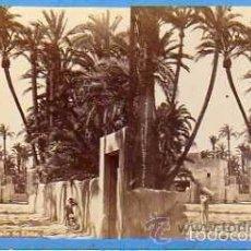 Postales: ESTEROSCÓPICA. ELCHE. J. LAURENT FOTOGRAFO. UNA CALLE DE ELCHE. NUM 1056. ALBUMINA.. Lote 57071061