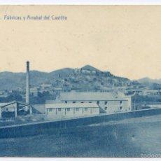 Postales: ONDA, CASTELLÓN DE LA PLANA, FÁBRICAS Y ARRABAL DEL CASTILLO, FOTOTIPIA THOMAS. Lote 57274220