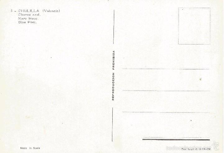 Postales: == A1434 - POSTAL - CHULILLA - VALENCIA - CHARCO AZUL - Foto 2 - 57279902