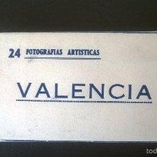 Postales: MINI BLOC VALENCIA - 24 VISTAS - HELIOTIPIA (AÑOS 40-50). Lote 57686113