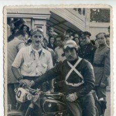 Postales: MOTOCICLISMO, PILOTO CON BMW, REPORTAJES GRÁFICOS FINEZAS, VALENCIA ¿AÑOS 50?. Lote 57708408
