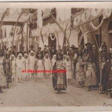 Postales: MORELLA. FIESTAS PATRONALES. POSTAL FOTOGRÁFICA ORIGINAL. CIRCULADA EN 1928. Lote 57755162