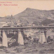 Postales: P- 5942. POSTAL ALCOY, VIADUCTO CANALEJAS. LIBRERIA JOSE LLORENS Y PERICOS.. Lote 57764171