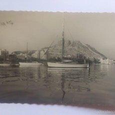 Postales: POSTAL ALICANTE - VISTA PARCIAL DEL PUERTO, CIRCULADA CON SELLO. Lote 57946623