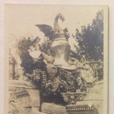 Postales: POSTAL FOTOGRÁFICA. FALLAS DE VALENCIA. CARROZA. ESCUDO JAUME I. C. AÑOS 30.. Lote 58322248