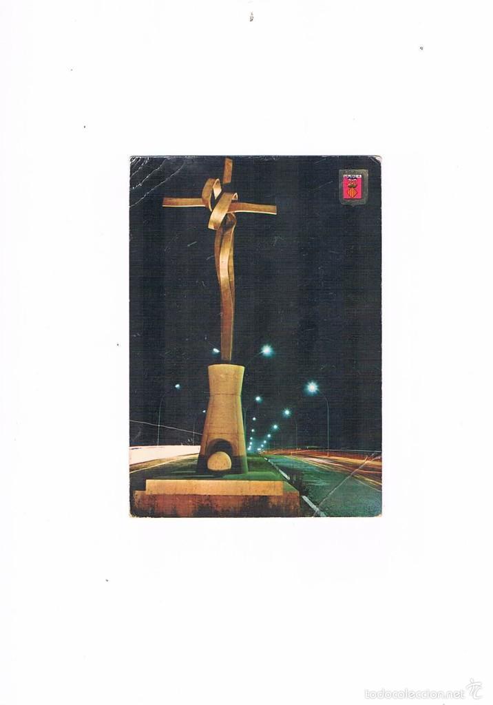 POSTAL ANTIGUA VALENCIA SIN CIRCULAR CRUZ DE TERMINO ESCULTOR ANTONIO SACRAMENTO (Postales - España - Comunidad Valenciana Moderna (desde 1940))