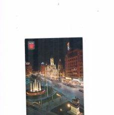 Postales: POSTAL ANTIGUA VALENCIA CIRCULADA PLAZA DEL CAUDILLO NOCTURNA. Lote 58646951