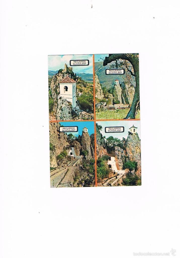 POSTAL ANTIGUA ALICANTE SIN CIRCULAR CASTELL DE GUADALEST (Postales - España - Comunidad Valenciana Moderna (desde 1940))