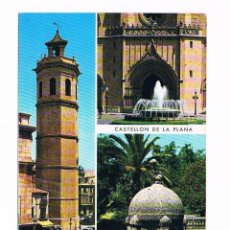 Postales: POSTAL ANTIGUA CASTELLON SIN CIRCULAR CASTELLON DE LA PLANA DETALLES DE LA CIUDAD. Lote 58669899