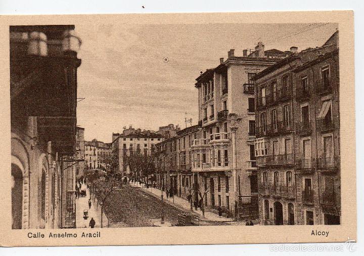 ALCOY CALLE ANSELMO ARACIL,CASA SEGURA ALCOY,NAKE ALCOY (Postales - España - Comunidad Valenciana Antigua (hasta 1939))