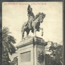 Postales: 118 - VALENCIA - MONUMENTO AL REY DON JAIME - FOT. THOMAS -. Lote 60013087