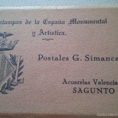 Postales: ACUARELAS VALENCIANAS.SAGUNTO. G.SIMANCAS. Lote 61277191