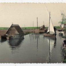 Postales: VALENCIA. EL PALMAR. CANAL DE LA ALBUFERA. FRANQUEADA EL 9 DE ABRIL DE 1951.. Lote 62453392