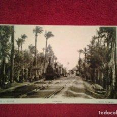 Postales: ANTIGUA FOTO POSTAL, ESTACIÓN DE TREN DE ELCHE - ALICANTE - ESPAÑA. Lote 63113332