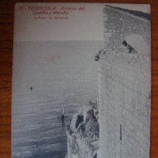 Postales: CASTELLON. PEÑISCOLA. EXTERIOR DEL CASTILLO Y MURALLA. L. ROISIN. FOTO BARCELONA.. Lote 63483932