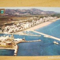 Postales: GANDIA - VALENCIA - PUERTO Y PLAYA VISTA AEREA. Lote 64000571