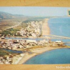Postales: GANDIA - VALENCIA - PUERTO Y PLAYA VISTA AEREA. Lote 64000759