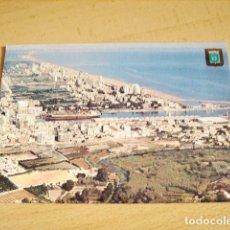 Postales: GANDIA - VALENCIA - PUERTO Y PLAYA VISTA AEREA. Lote 64006739