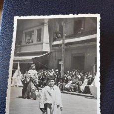 Postales: ANTIGUA FOTOGRAFÍA . PROCESION MARINERA SEMANA SANTA DEL CABAÑAL. VALENCIA. FOTO AÑOS 50.. Lote 64152971