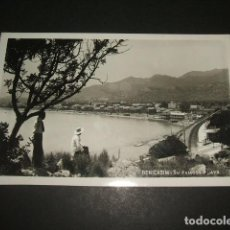 Postales: BENICASIM CASTELLON SU FAMOSA PLAYA POSTAL FOTOGRAFICA AÑOS 30. Lote 64512823