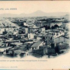 Postales: POSTAL DE ALICANTE LAS ARENAS, FRANCISCO ALBRICIAS SE VENDEN A BENEFICIO DE LAS ESCUELAS EVANGÉLICAS. Lote 64703819
