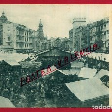 Postales: POSTAL VALENCIA, MERCADO CENTRAL , CHARAMA , REVERSO SIN PARTIR , ORIGINAL, P85706. Lote 64844807