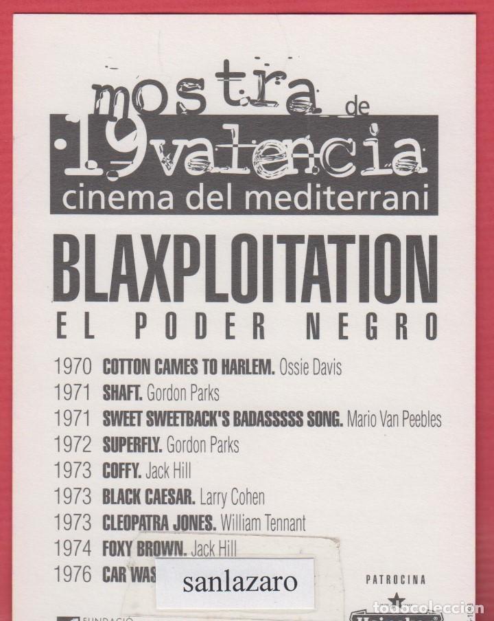Postales: TARJETA POSTAL DE L A 19ª MOSTRA DE VALENCIA BLAXPLOITATION EL PODER NEGRO AÑO 1998 - Foto 2 - 66207594