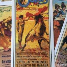 Postales: POSTALES CARTELES TAURINOS DE ALCOY.- 19 POSTALES CARTELES TAURINOS DE ALCOY. Lote 66922526