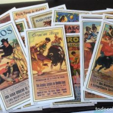 Postales: POSTALES REPRODUCCION CARTELES TAURINOS DE ALCOY.- 12 POSTALES. Lote 66922862