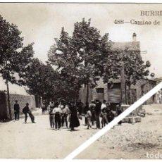Postales: MAGNIFICA POSTAL FOTOGRAFICA - BURRIANA (CASTELLON) - CAMINO DE VILLARREAL - MUY AMBIENTADA. Lote 50311597