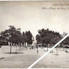 Postales: MAGNIFICA POSTAL FOTOGRAFICA - CASTELLON - PLAZA DEL REY D. JAIME - AMBIENTADA. Lote 50309710