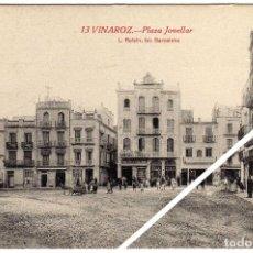 Postales: MAGNIFICA POSTAL - VINAROZ (CASTELLON) - PLAZA JOVELLAR - MUY AMBIENTADA. Lote 50312884