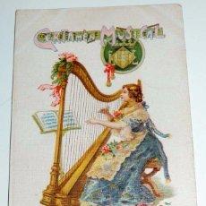 Postales: POSTAL DE VALENCIA , EXPOSICION REGIONAL VALENCIANA AÑO 1909 - CERTAMEN MUSICAL, ILUSTRADA POR E. PA. Lote 68845325