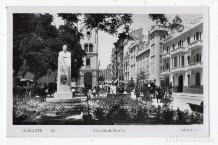 ALICANTE. AVENIDA DE ZORRILLA. ANIMADA CON CARROS. (Postales - España - Comunidad Valenciana Moderna (desde 1940))