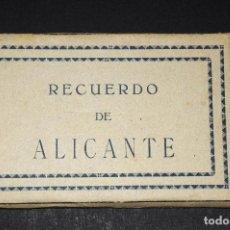 Postales: ANTIGUO BLOC POSTALES RECUERDO DE ALICANTE. Lote 69255561